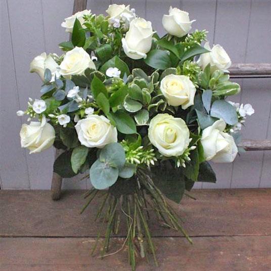 Dozen long stemmed white roses country fayre florist st neots dozen long stemmed white roses mightylinksfo